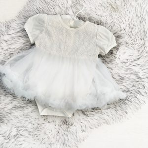 Baby Girls Ivory Tutu Dress