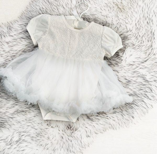 Baby Girls Ivory Tutu Dress