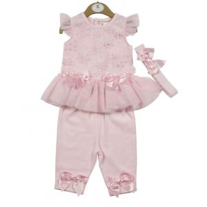 Baby Girls Pink Leggings Set