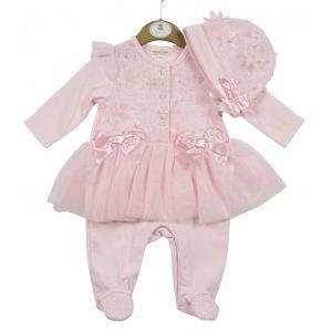 Baby Girls Pink Flower Set