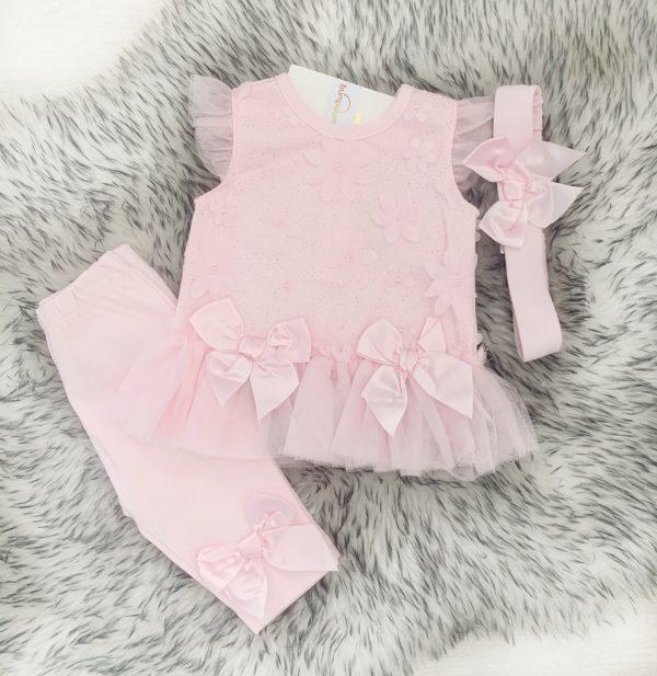 Baby Girls Pink Leggings Set