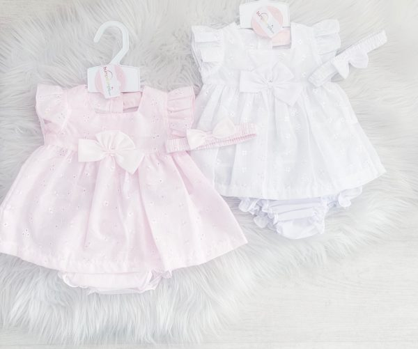 Baby Girls Broderie Anglaise Dress
