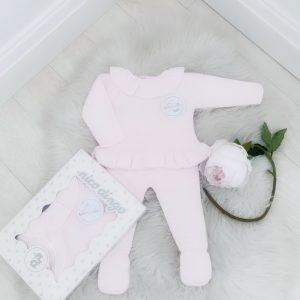 Baby Girls Pink Frill Collar Set