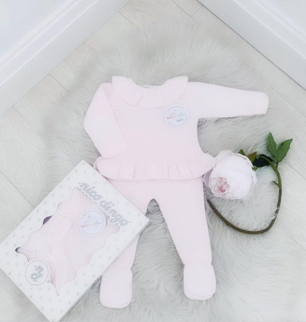 Baby Girls Pink Frill Collar Set