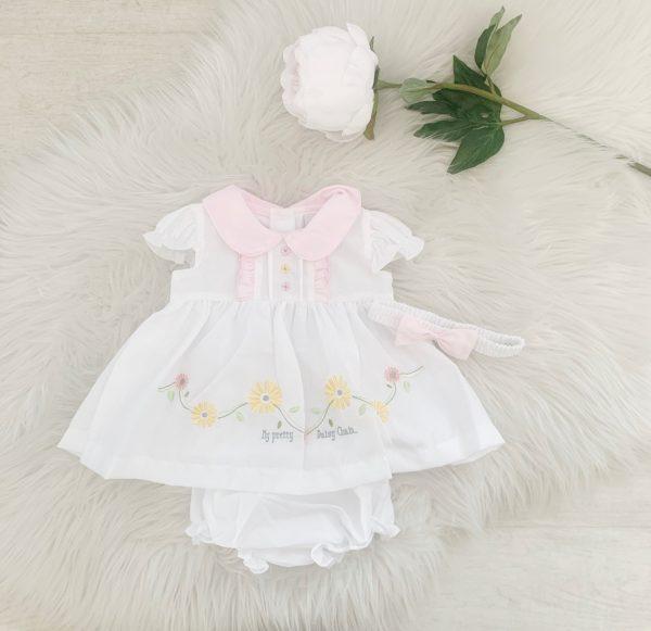 Baby Girls White Summer Dress