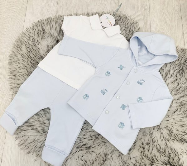 Blues Baby Blue Jacket Top & Trousers
