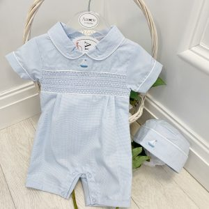 Baby Boys Sailor Romper & Hat