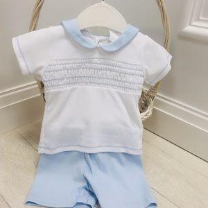 Baby Blue Top & Shorts Set