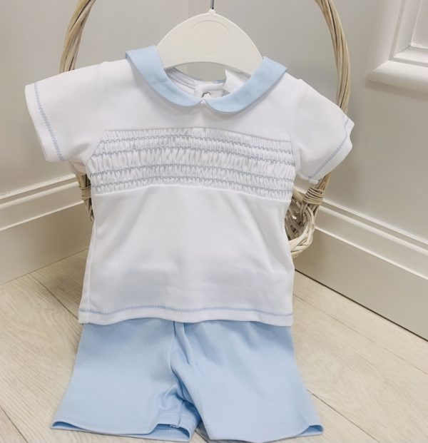 Baby Blue Top & Shorts Set