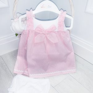 Baby Girls Pink Stripe Dress