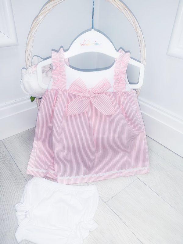 Baby Girls Pink Stripe Dress