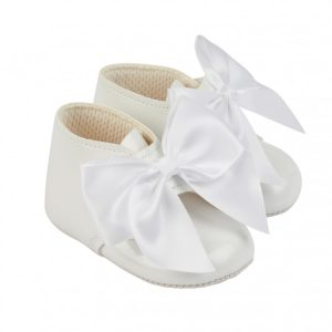Baby Girls White Bow Boots