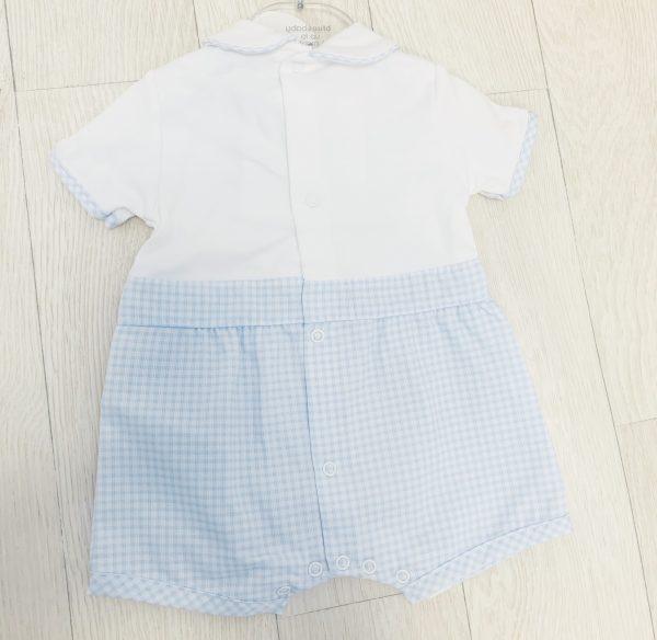 Baby Boys Blue & White Summer Romper