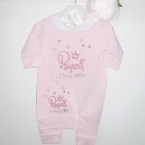 Baby Girls Princess babygrow & Hat