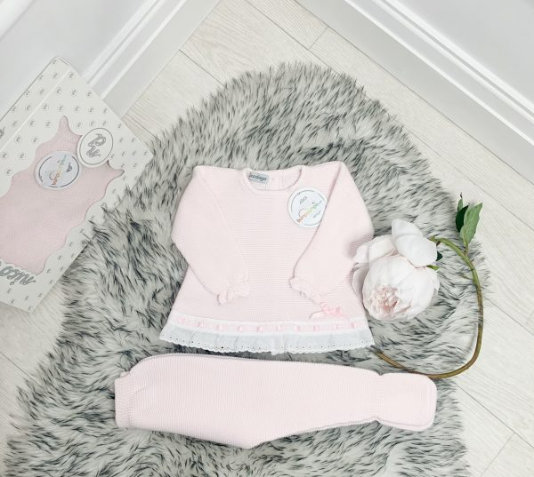 Baby Girls Pink Set with Cotton Frill