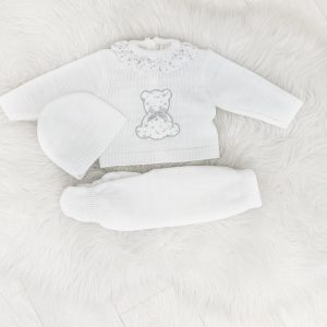 Unisex Knitted Bear Set