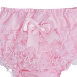 Baby Girls Pink Frill Knickers with Bow