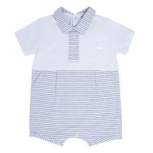 Baby Boys Blue Stripe Romper
