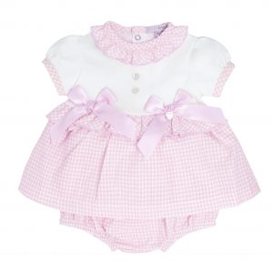 Baby Girls Pink Check Dress
