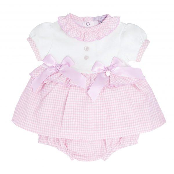 Baby Girls Pink Check Dress