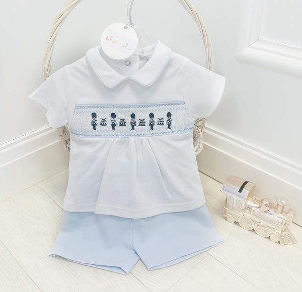 Bluesbaby Soldier Embroidered Shorts Set