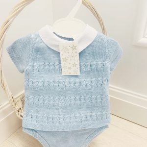 Baby Boys Blue Top & Shorts Jam Set