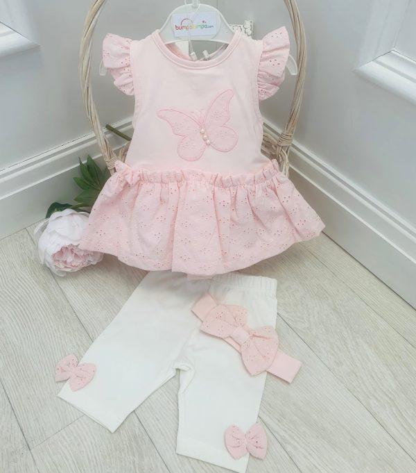 Baby Girls Dress & Leggings Set