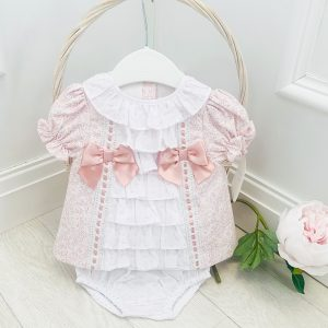 Baby Girls Light Pink Dress Set