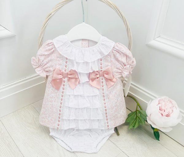 Baby Girls Light Pink Dress Set