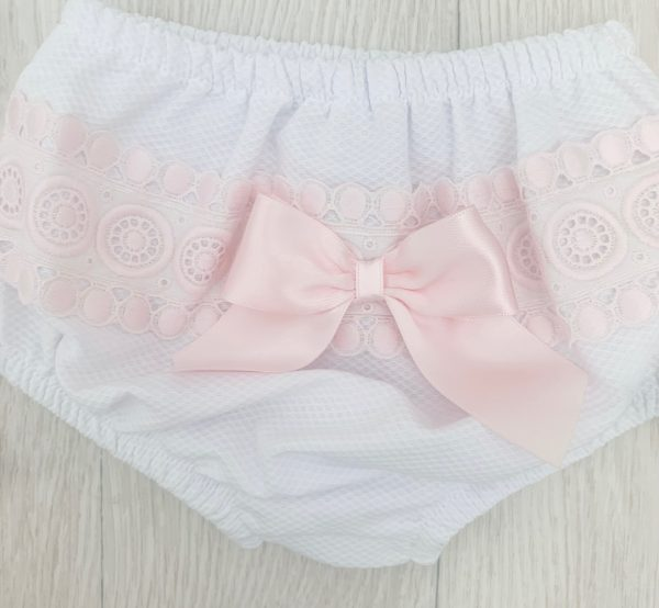 Baby Girls White Bow Dress