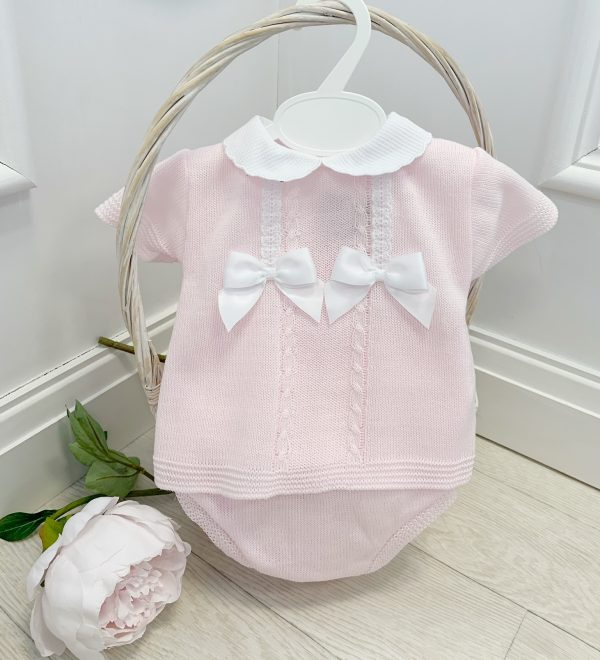 Baby Girls Light Knitted Top & Shorts Set