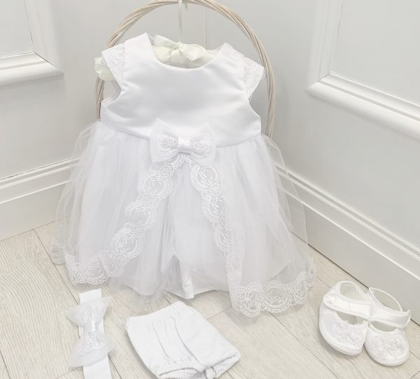 BABY GIRLS IVORY CHRISTENING DRESS SET