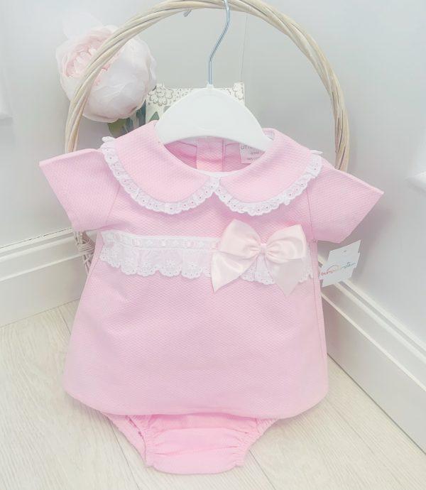 Baby Girls Pink Jam Pants Set