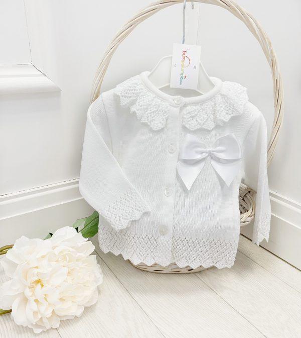 Baby Girls White Cardigan