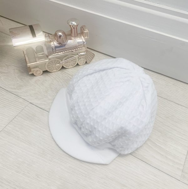White Baby Boys Sun Hat