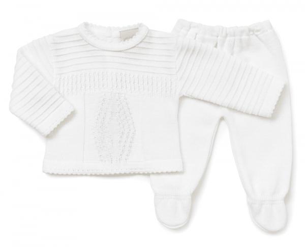 Unisex Diamond Knitted Set