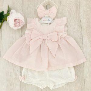 Baby Girls Pale Pink Dress & Shorts