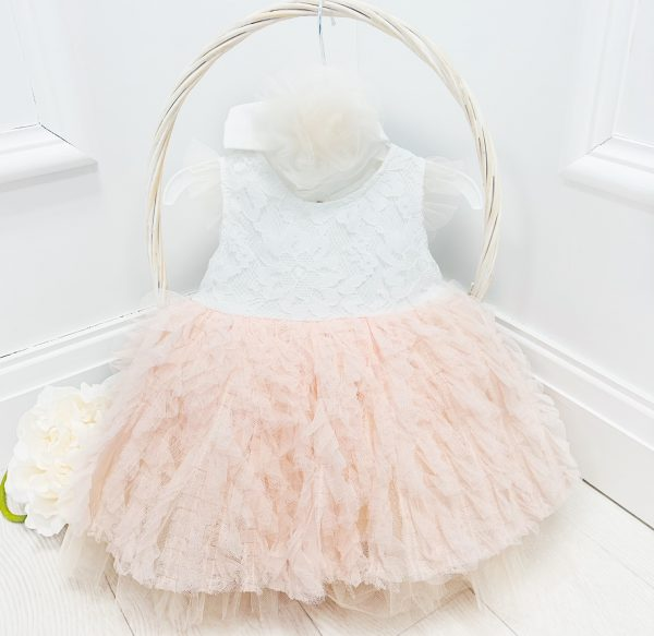 Baby Girls Peach Dress