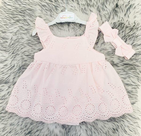 Baby Girls Pink Dress & Headband