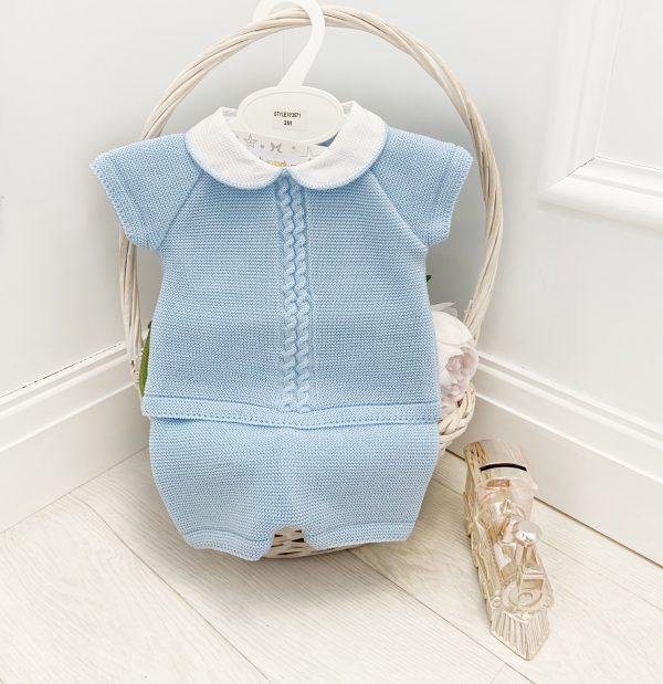 Baby Boys Plain Blue Top & Shorts