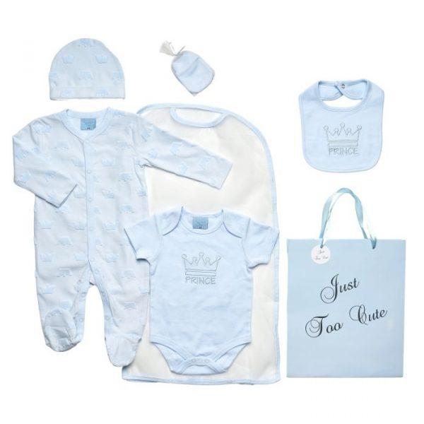 Baby Boys Blue Prince Baby Gift Set