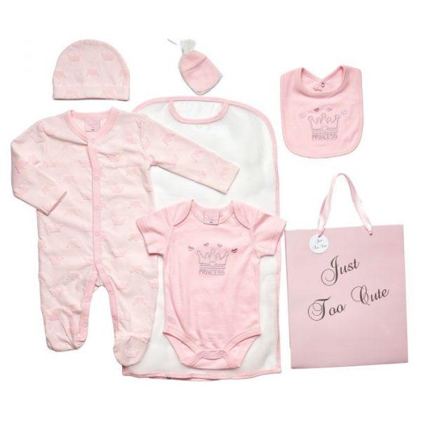 Baby Girls Pink Princess Baby Gift Set