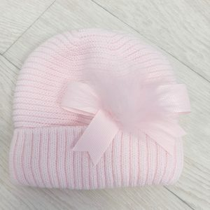 Baby Girls Pink Knitted Beanie