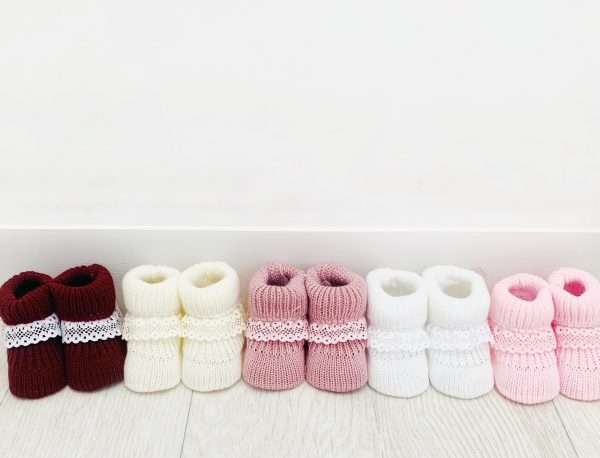 Baby Girls Knitted Baby Bootees
