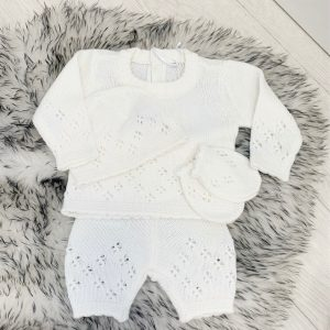 Ivory Knitted Four Piece Set