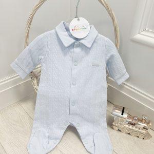 Blue Babygrow with Collar