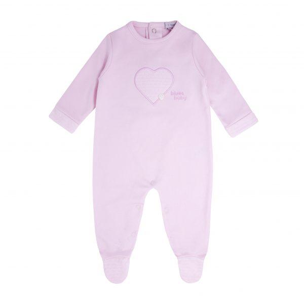 Baby Girls Pink Heart Babygrow