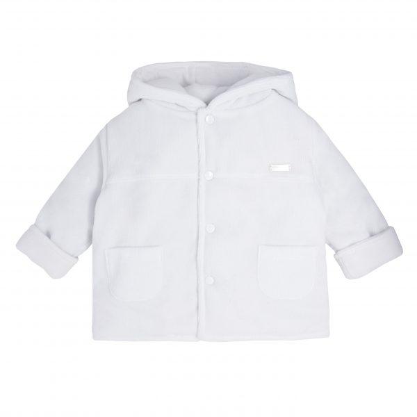 Unisex White Padded Coat