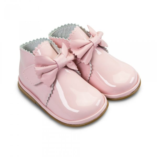 Sharon Pink Patent Leather Baby Shoes