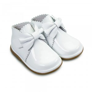 Sharon White Patent Leather Baby Shoes